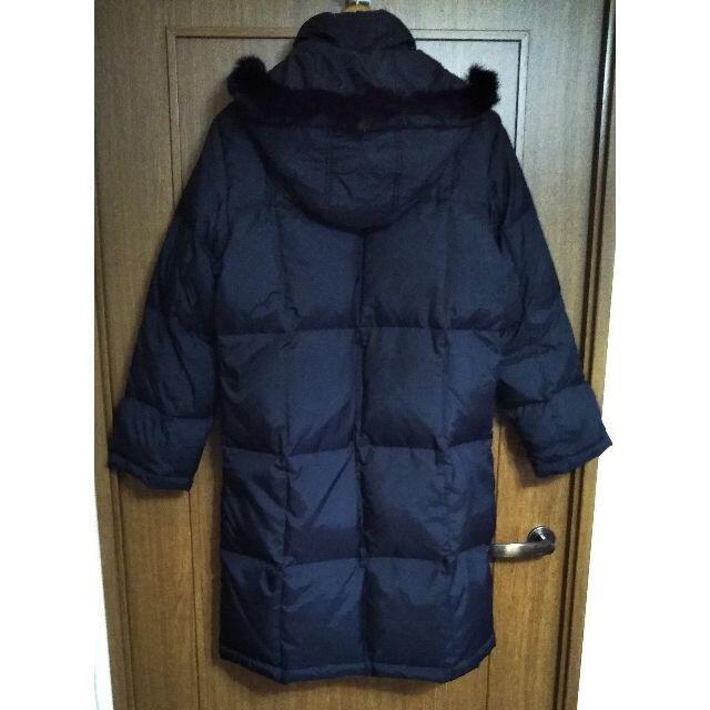 ZARA(ザラ)の定価約1万円 羽毛 ブラック ダウンコート ラビット 毛皮 フード レディースのジャケット/アウター(ダウンコート)の商品写真