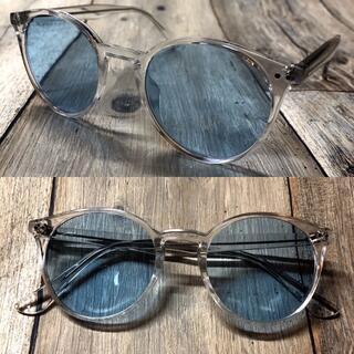 クリアフレーム ライトブラウン ボストン サングラス ボストン 眼鏡