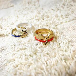 猫リング小サイズのセットのセット★赤&青(リング(指輪))