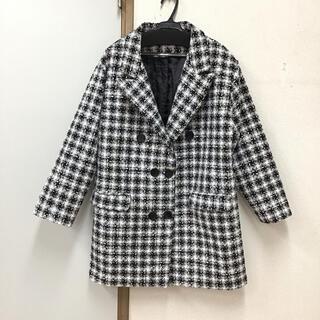 【同梱限定】ラメツイードダブルボタンジャケット 黒(テーラードジャケット)