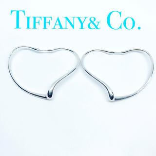 Tiffany & Co. - 美品 ティファニー オープンハート フープピアス ミディアム シルバー 武井咲