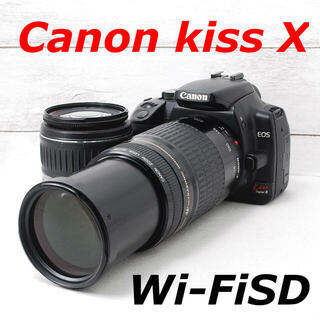Canon - ❤️300mm望遠付き❤️スマホ転送❤️Canon kiss X