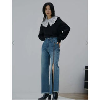 Ameri VINTAGE - AMERI zipper straight denim アメリ デニム