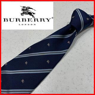 ◇バーバリー ロンドン Burberry London シルク ネクタイ ロゴ
