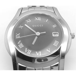 Gucci - 美品 GUCCI 腕時計 メンズ 5500M シルバー 文字盤 ブラック