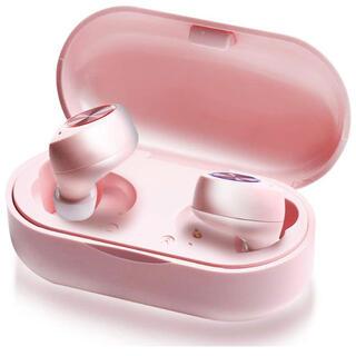 イヤホン カナル かわいい 女性向け タッチ操作 TW60 (ピンク)