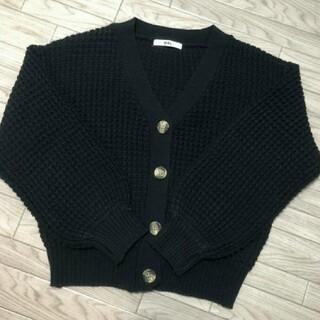 GRL - 【グレイル】 黒色! ワッフル編みカーディガン