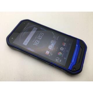 キョウセラ(京セラ)のSIMフリー良品au京セラ TORQUE G03 KYV41 ブルー 407(スマートフォン本体)