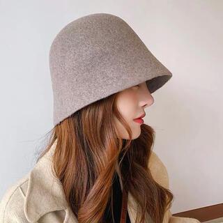 ウールハット woolhat 韓国ファッション オルチャン 帽子 フリーサイズ(ハット)