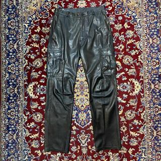 JOHN LAWRENCE SULLIVAN - VINTAGE tapered-sil leather cargo slacks