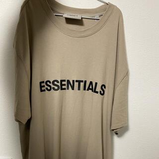 FEAR OF GOD - Essentials FOG 正規品 ロゴTシャツ カーキ Sサイズ