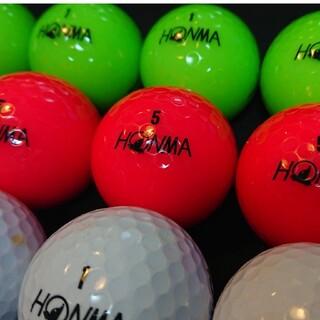 ホンマゴルフ(本間ゴルフ)の【良品】´18 ホンマ D1 24球 緑,桃,白 ロストボール ゴルフボール(その他)