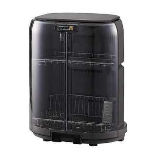食器乾燥機 縦型 コンパクト グレー(食器洗い機/乾燥機)