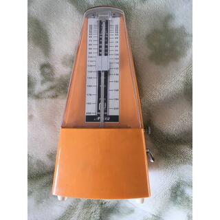 ニッコー(NIKKO)のNIKKO 日工式 メトロノーム 日本製 オレンジ色(その他)