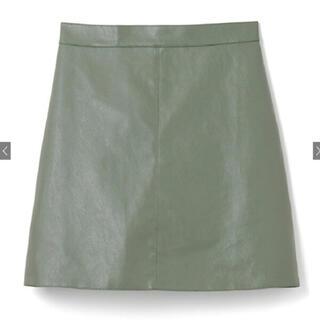 GRL - GRL インパン付きレザー台形ミニスカート  グリーン