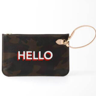 L'Appartement DEUXIEME CLASSE - アパルトモン Hello Bonjour Pouch カーキB カモフラ 迷彩