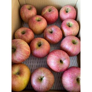 減農薬栽培山形産 ふじりんご3kバラ満タン訳あり色浅め中玉(フルーツ)