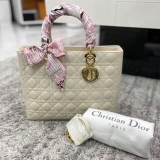 Christian Dior - クリスチャンディオール レディディオール ラージ アイボリー