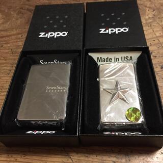 ジッポー(ZIPPO)のZIPPO SEVEN STARS ×2個セット(タバコグッズ)