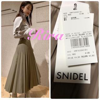 snidel - 完売🌷新品タグ付き🍀スナイデル レザープリーツスカート