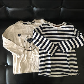 エイチアンドエイチ(H&H)のH&M ロンT二枚組 85㎝くらい(Tシャツ)