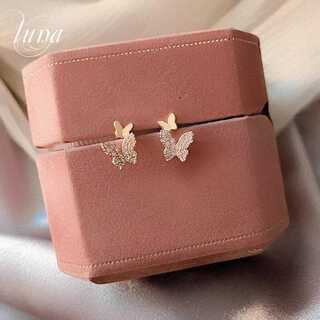STAR JEWELRY - 新品♪ papillon pave pierce☆S925 post GOLD