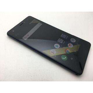 キョウセラ(京セラ)の342 au Qua phone QZ KYV44 ネイビー上美品◆バージョン8(スマートフォン本体)