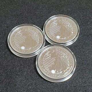 イギリス 2021年 ブリタニア 銀貨 3枚セット 新品 未使用 純銀