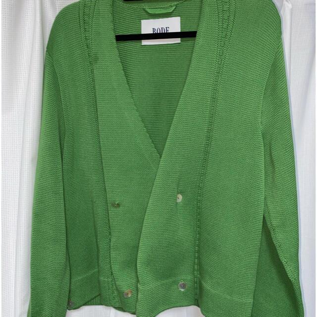 Supreme(シュプリーム)のbode20ss green cardigan メンズのトップス(カーディガン)の商品写真