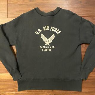 WAREHOUSE - WAREHOUSE ミリタリー スウェット AIR FORCE 42 L 黒