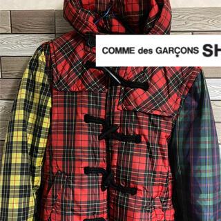 コムデギャルソン(COMME des GARCONS)のCOMME des GARCONS SHIRT チェック柄 ダッフルコート (ダッフルコート)