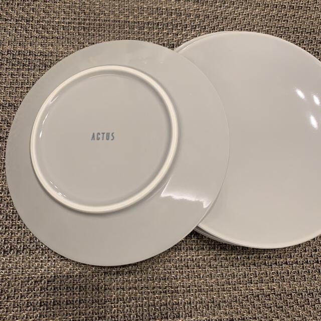 ACTUS(アクタス)のACTUS アクタス お皿 プレート グレー4枚 インテリア/住まい/日用品のキッチン/食器(食器)の商品写真