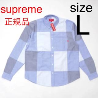 Supreme - Supreme Patchwork Oxford Shirt Blue