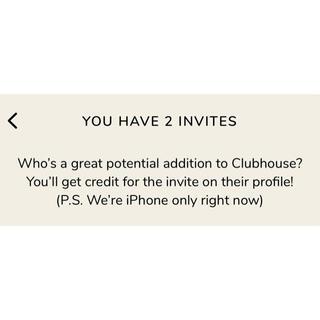 【残り1枠】Clubhouse invite / クラブハウス 招待枠(その他)