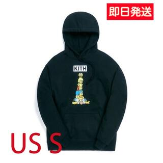 KITH × SIMPSONS Family Stack Hoodie 黒 S(パーカー)