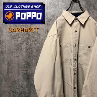 carhartt - カーハート☆ワンポイント刺繍ロゴダブルポケットワークシャツ