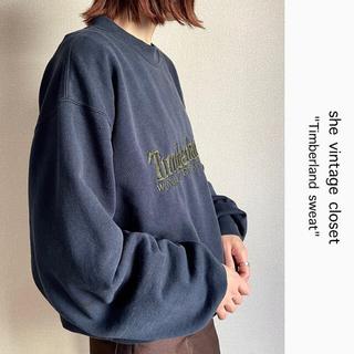 Timberland - 90s 古着 ティンバーランド スウェット 刺繍ロゴ ビンテージ
