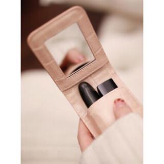 ディオール シャネル YSL の口紅が入る リップケース 手鏡 ミラー 付き