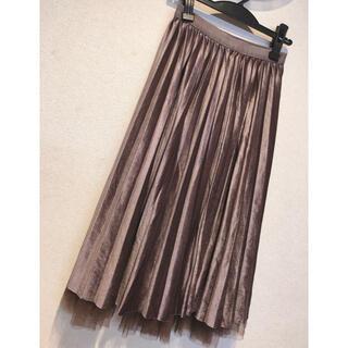 ジーユー(GU)のGU ジーユー リバーシブル ベロアチュールプリーツスカート(ロングスカート)