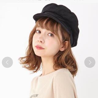 イング(INGNI)のキャスケット コーデュロイ ブラウン ダンス衣装 ベージュ ベレー帽(キャスケット)
