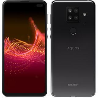 アクオス(AQUOS)のAQUOS Sense4 plus ブラック(スマートフォン本体)