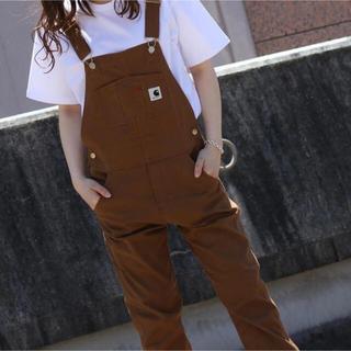 カーハート(carhartt)のCarhartt wip  overalls ブラウンxs(サロペット/オーバーオール)
