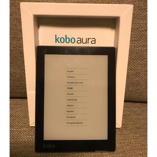 Rakuten - 美品 Kobo Aura 楽天 ブラック 初期化済 液晶フィルム・専用ケース付