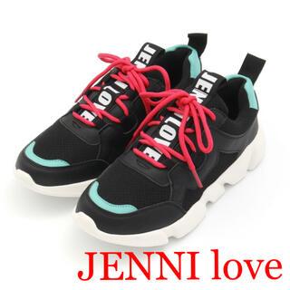 JENNI - 1回着☆ JENNI loveバイカラースニーカー22cmジェニィラブトキシック