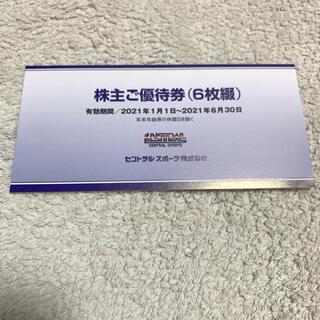 セントラルスポーツ 株主優待 6枚綴(フィットネスクラブ)