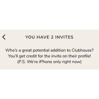 【深夜1時まででしたら5分以内に対応可】clubhouse 招待コード(その他)