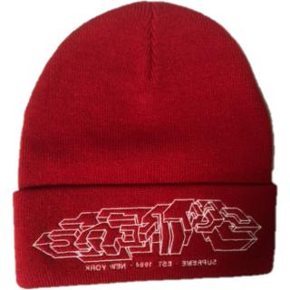Supreme - Supreme Delta Logo Beanie Cap Red FW19