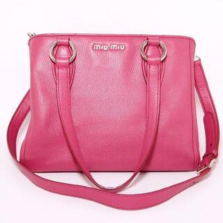 miumiu - 【美品】miumiu ヴィッテロ フェニックス 2wayトートバッグ 赤 ピンク