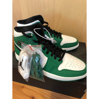 NIKE - AIR JORDAN 1 MID SE PINE GREEN BLACK30cm