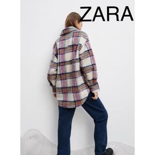 ZARA - ZARA チェック柄オーバーシャツ